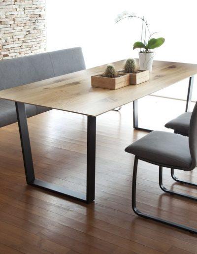 Tonon U-Tisch, for us Bank, Swing Freischwinger