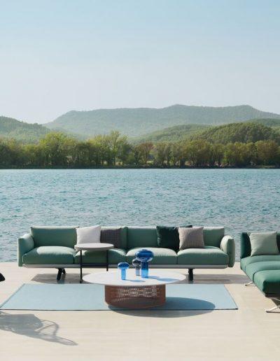 BOMA Outdoor-Lounge von Patrizia Urquiola mit Sessel CALA