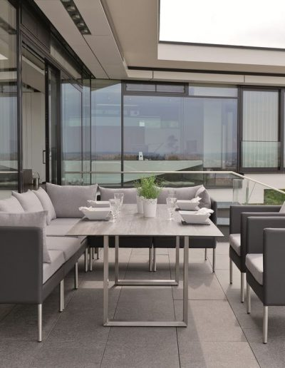 Outdoor-Lounge MIGUEL, mit Kufentisch