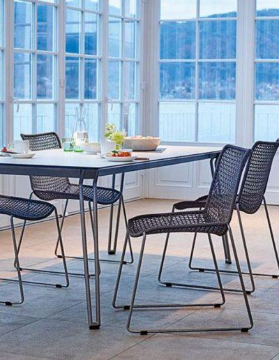 SLOPE Sitzgruppe mit Tisch 200x90cm, Weishäupl Werkstätten