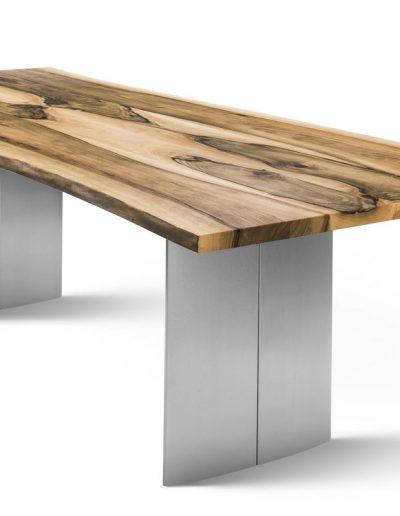 Scholtissek Zett Tisch mit Naturbaumkante