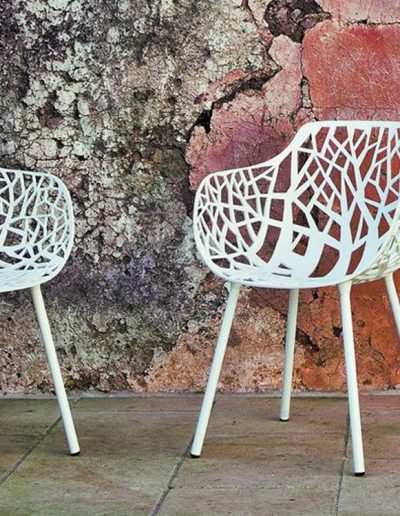 FOREST, Aluminium Designerstühle für den Garten, Fast Italien
